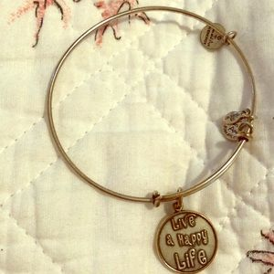 "Alex and Ani ""Live a Happy Life"" silver bracelet"